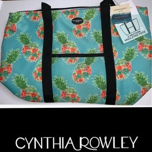 Cynthia Rowley Pineapple Tropical Insulated Tote